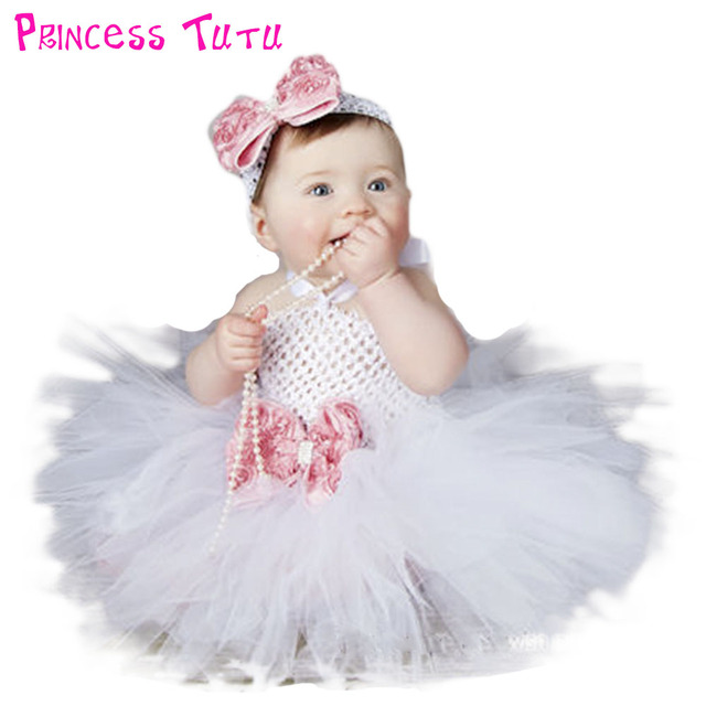 White Girls Tutu Dresses For Baptism Birthday Outfit Halloween Costume Baby Girl with Flower Headband PinK  sc 1 st  AliExpress.com & White Girls Tutu Dresses For Baptism Birthday Outfit Halloween ...