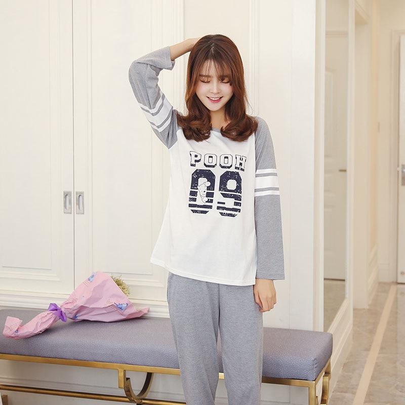 6c3299f95ee60 ᗕОсень-зима Для женщин S Пижамы для девочек с длинными рукавами и ...