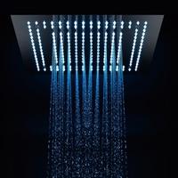 Роскошные площади осадков удаленного Управление светодиодный свет 16 Насадки для душа Ванная комната смеситель для душа заменить голову не