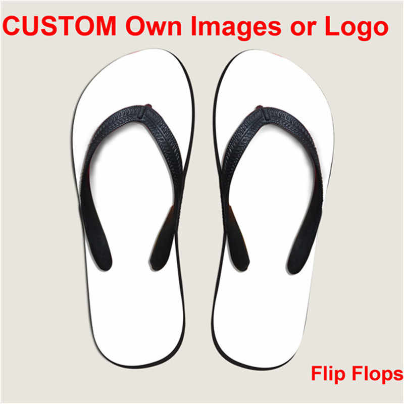 72d8ceda ELVISWORD Lightweight Customize Wholesale Flip Flops for Men Women Girls  Beach Shoes Footwear EVA Logo Print