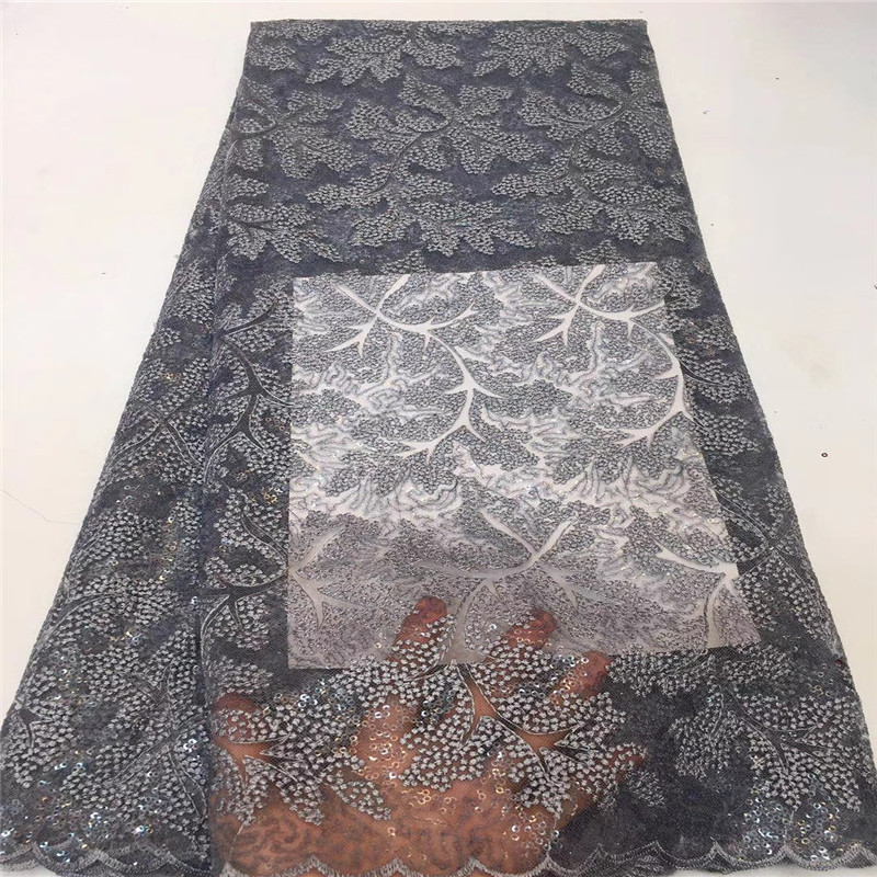 French Net Lace Fabric 2018 Latest african guipure lace fabric with embroidery mesh tulle pink cord