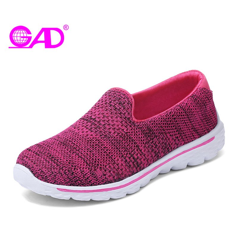 GAD Spring Women Shoes Mesh Breathable Slip-on Fashion Casual Comfortable Women Flats Loafers Shoes Black Gray Rosyred elviswords cat women mesh flat shoes black breathable fmale beach flats animals printing slip on custom footwear 2018 wholesale