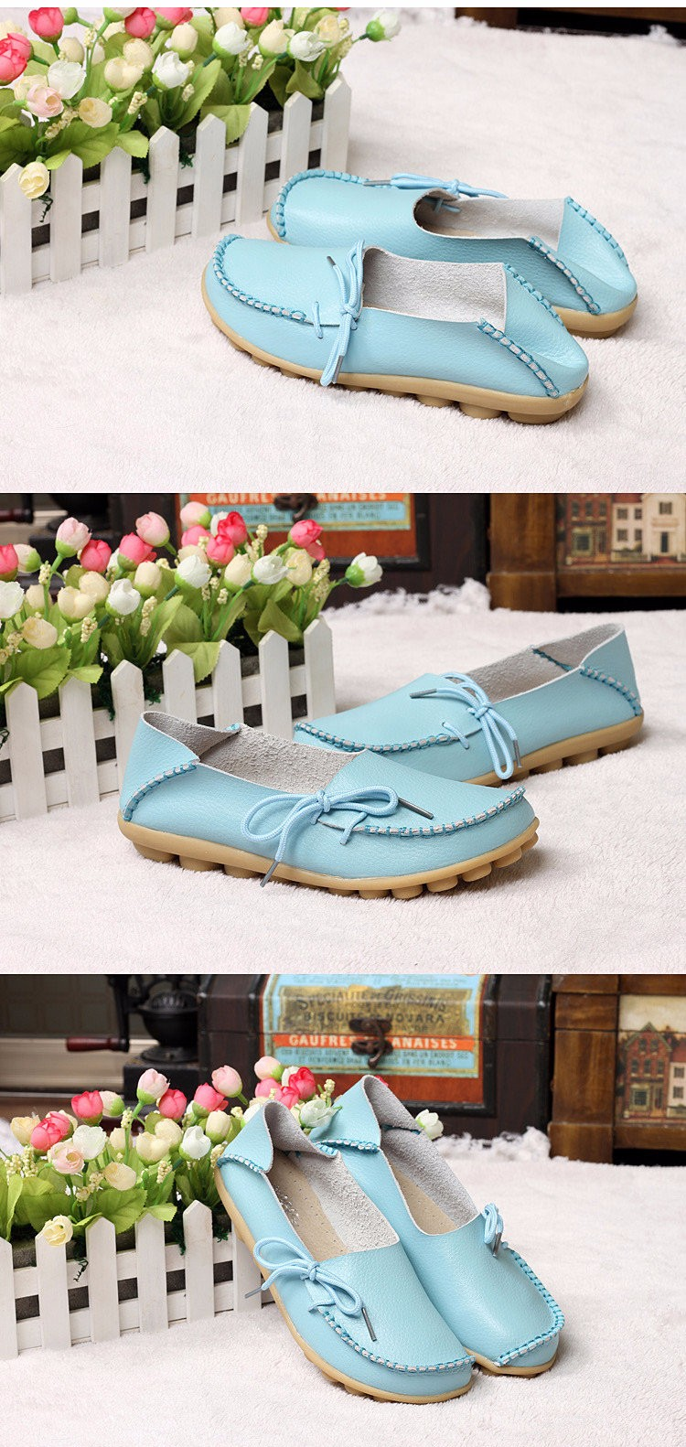 2016 New Real Leather Woman Flats Moccasins Mother Loafers Lacing Female Driving Casual Shoes In 16 Colors Size 34-44 ST179 (11)