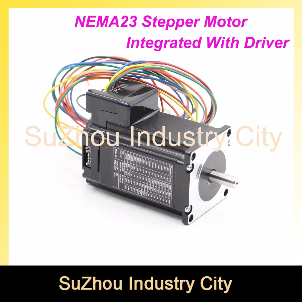 CNC NEMA 23 Integrated Stepper Motor with driver DIP switches 57 HS stepper motor with low heating and noise for CNC machine ! mukhzeer mohamad shahimin and kang nan khor integrated waveguide for biosensor application