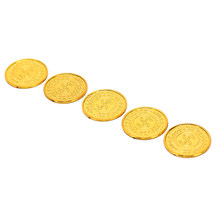 100 pcs/pack baru poker chip kasino model bitcoin bitcoin Koin Emas Bajak Laut emas plating Plastik(China)