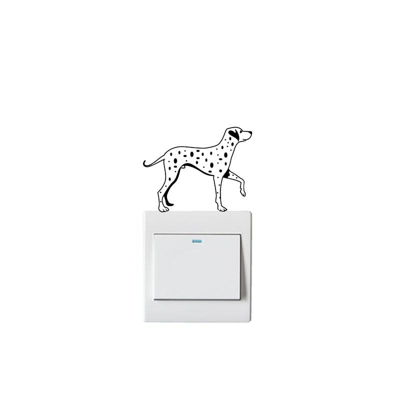 Dalmatian Puppies Novelty Vinyl Light Switch Cover Sticker