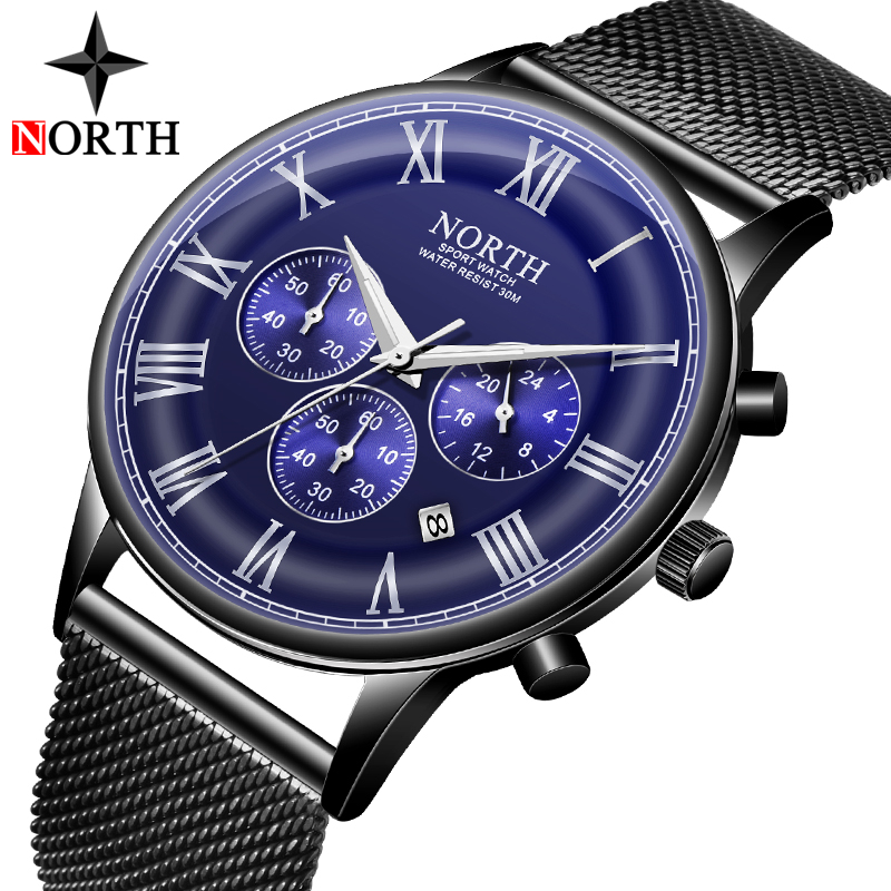 NORTH Ultra-thin Stainless Steel Mesh Strap Business