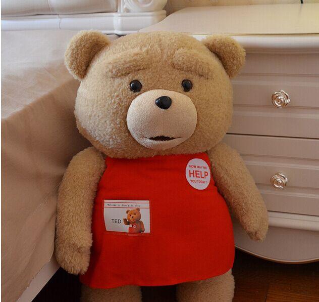 58 cm ted ours en peluche film, énorme oreiller d'ours en peluche, ours en peluche géant ted peluche, grand ours en peluche poupée