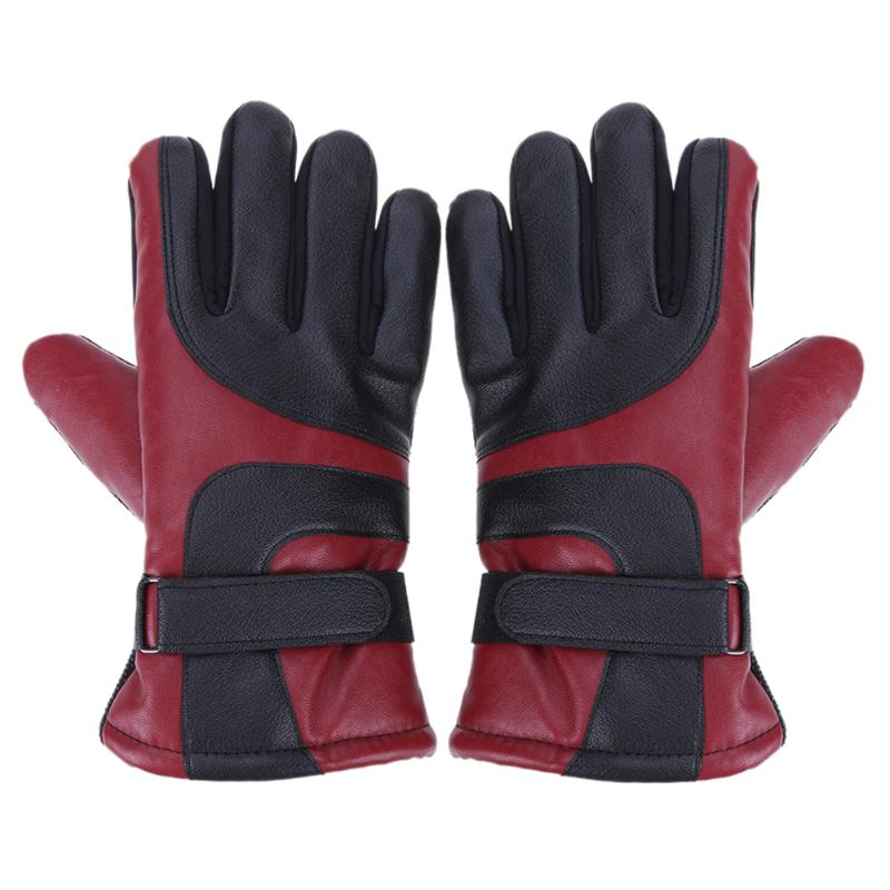 TouchScreen Windproof Gloves Mittens Men Women Gloves Full Finger Cycling Gloves Winter Warm Leather Skiing Gloves S/L guantes