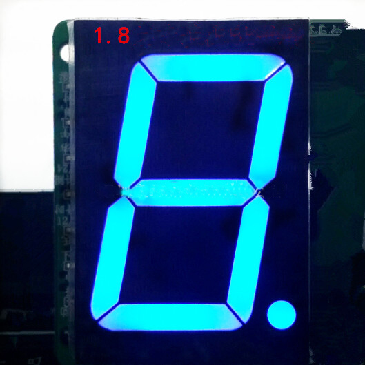 Free Ship 50pc Common Anode 1.8inch Digital Tube 1 Bit Digital Tube Display Blue Digital Led Tube  Factory Direct