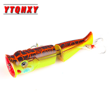 YTQHXY 1Pcs/lot Fishing Lures Popper Hard Bait 105mm 11.1g Floating Topwater Artificial Wobblers Crankbait Tackle WQ3