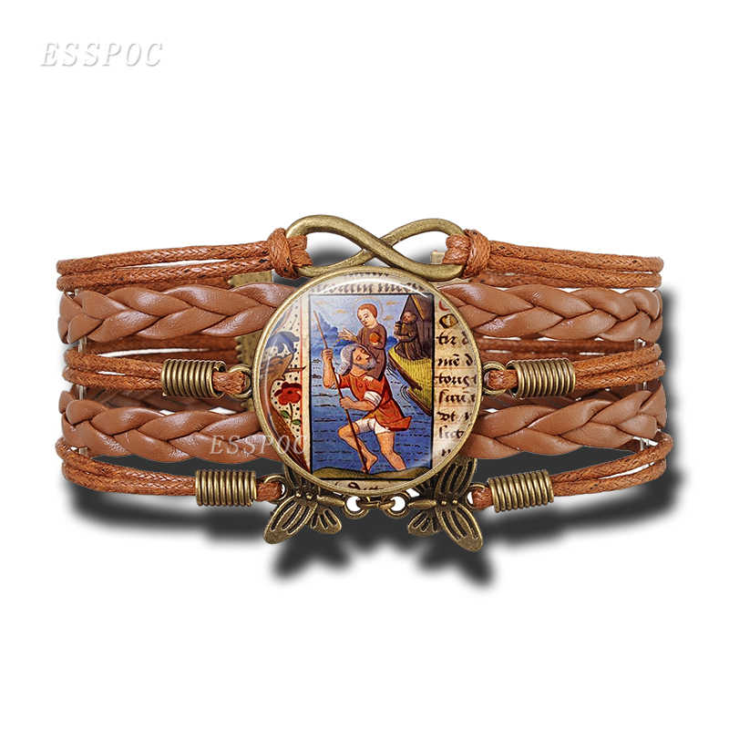 St Christopher брелок браслет Святой приносить любовь к вашей жизни медаль серьги религиозный ювелирный подарок