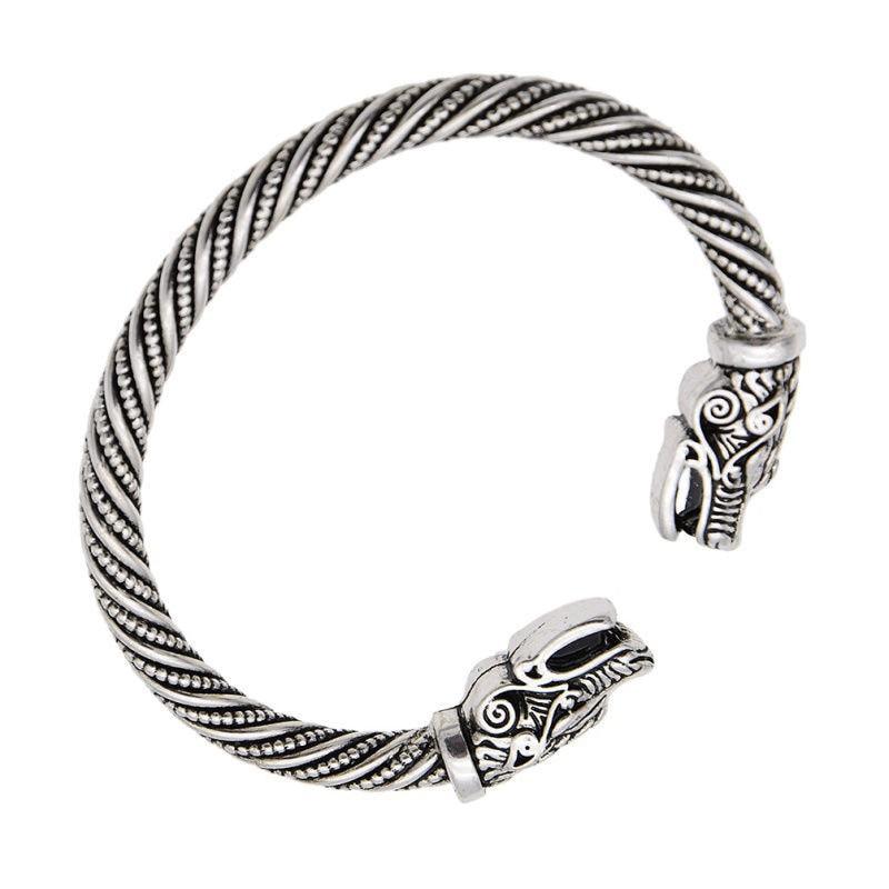 Teen Wolf Head Bracelet Indian Jewelry Fashion Accessories Viking Bracelet Men Wristband Cuff Bracelets For Women Bangles Gifts