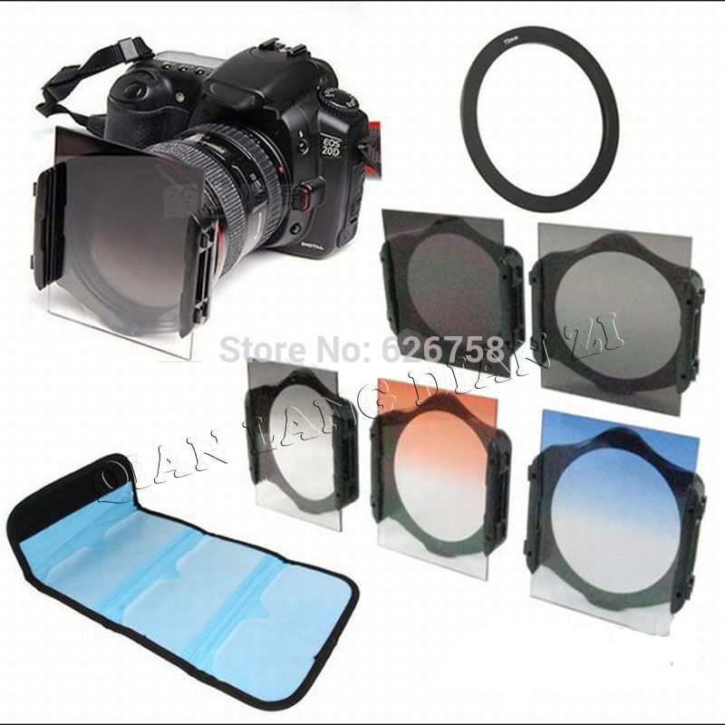 49mm 52mm 55mm 58mm 62mm 67mm 72mm 77mm 82mm ring Adapter+ ND2/ND4/ND8+ Graduated color square Filter for Cokin p series