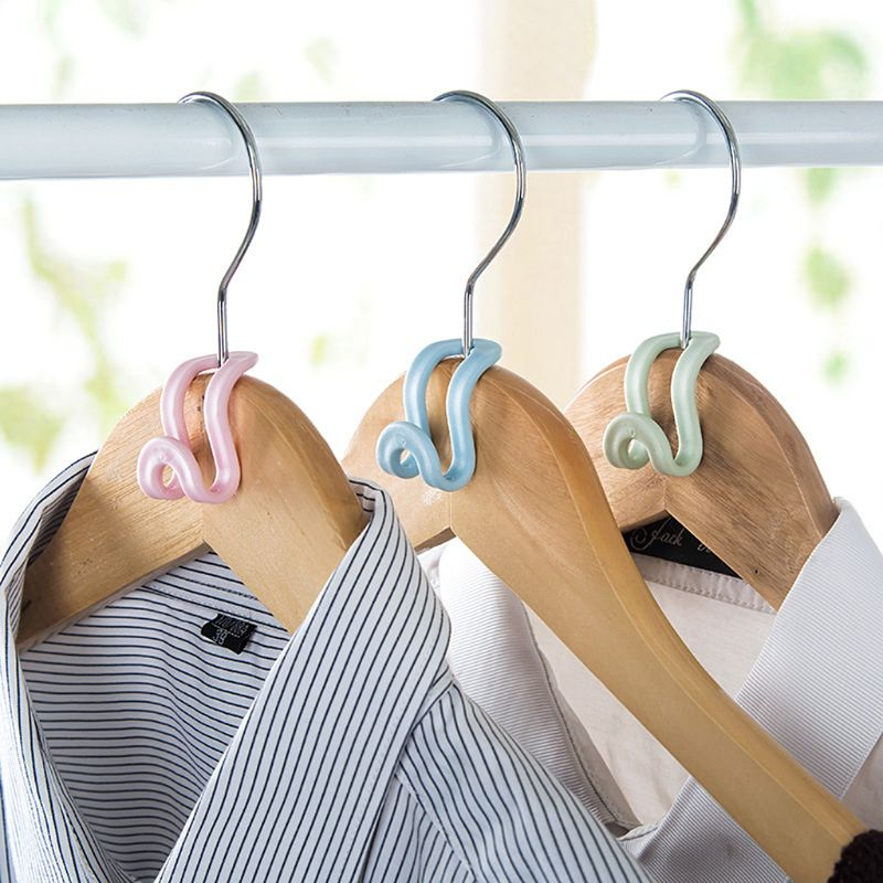 Image 4 - 15Pcs Creative Mini Flocking Clothes Hanger Home Easy Hook Closet Organizer-in Hangers & Racks from Home & Garden