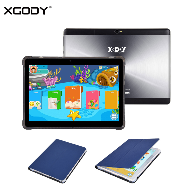 XGODY Kids Tablet PC 10.1 Inch 1280*800 Android 7.0 1GB 16GB Dual Camera 2MP+5MP Bluetooth WiFi 5000mAh 3G Phone Call Tablet PC