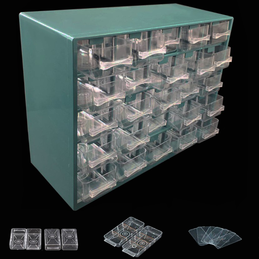 Plastic Tool Box 25 Lattice Drawer Type Hardware Tool Storage Box Wall Hanging Screw Parts Classification Component Box