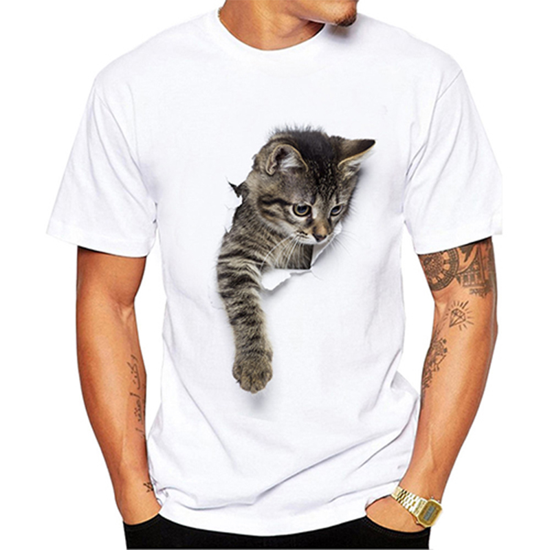 3D Cute Cat T-shirts Women Summer Tops Tees Print Animal T shirt Men o-neck short sleeve Fashion Tshirts Plus Size