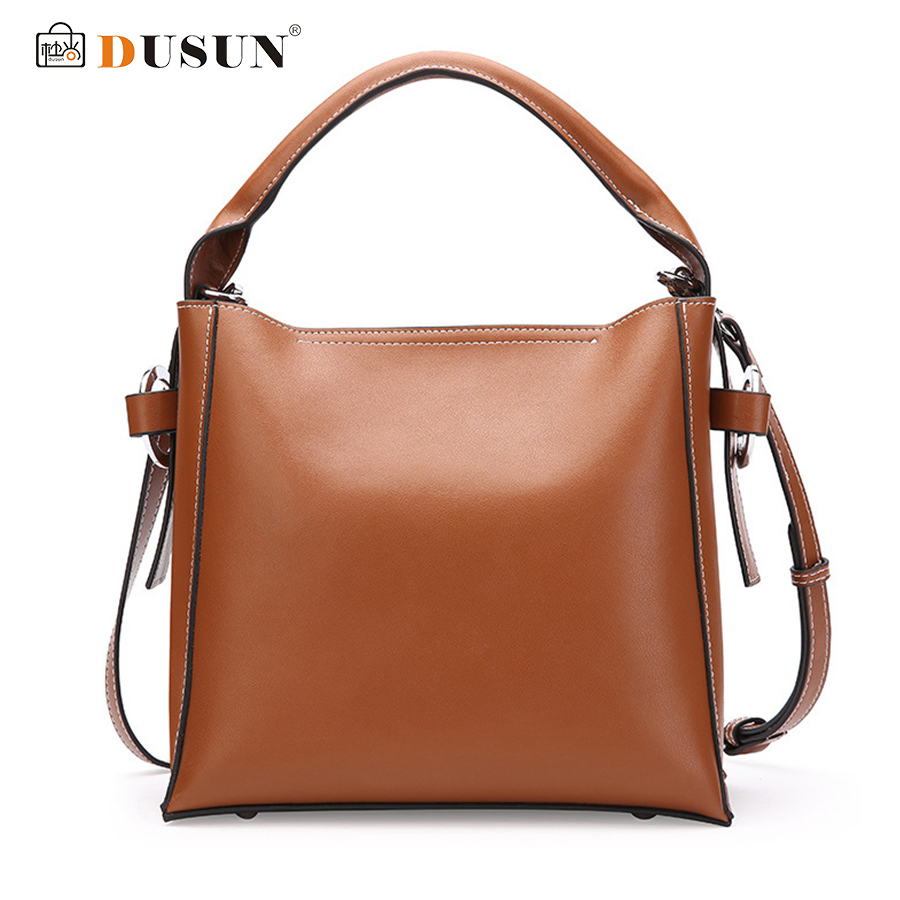 DUSUN Genuine Leather Handbags Women Winter Brand Messenger Bags Ladies Fashion Bucket Bag Female 2017 Vintage Bolsa FemininaDUSUN Genuine Leather Handbags Women Winter Brand Messenger Bags Ladies Fashion Bucket Bag Female 2017 Vintage Bolsa Feminina