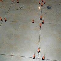 50 pçs plana cerâmica piso parede ferramentas de construção telha reutilizável sistema nivelamento kit tn99