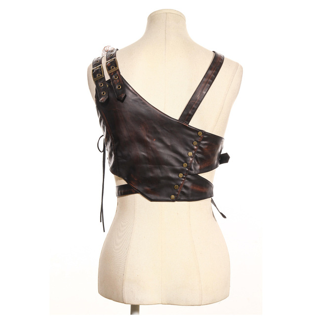 Steam Punk Cosplay Festive Party Party Shoulder Strap Leather Chest Strap with Armor 1