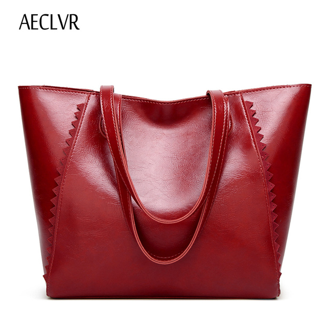 AECLVR High quality women's shoulder bag Oil wax leather women bag classic Large capacity Casual Tote bags for women bolsa