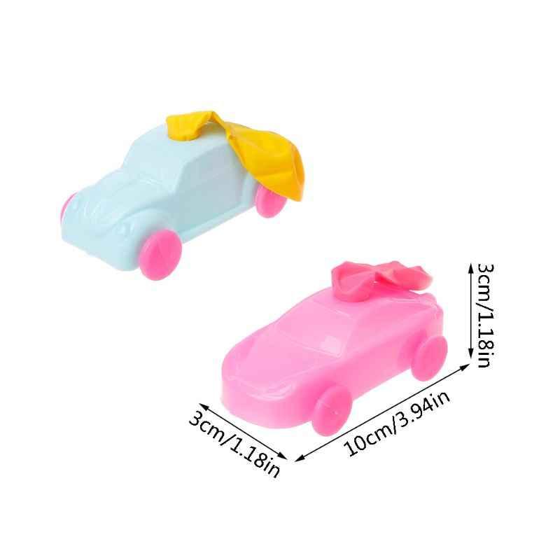 ของขวัญเด็ก Aerodynamic Forces Inflatable บอลลูนรถยนต์ DIY Inertial Power โครงการเด็กทดลองวิทยาศาสตร์ของเล่น