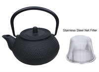 2016 Japan Cast Iron Teapot Tetsubin Kettle Tea Pot Drinkware Tools 300ml Kung Fu Infusers Stainless Steel Net Filter