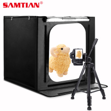 SAMTIAN Portable Softbox 60 * 60 * 60CM 88pcs LED Photo Studio Menembak Light Tent Light Box 5500K 3400LM Light Room