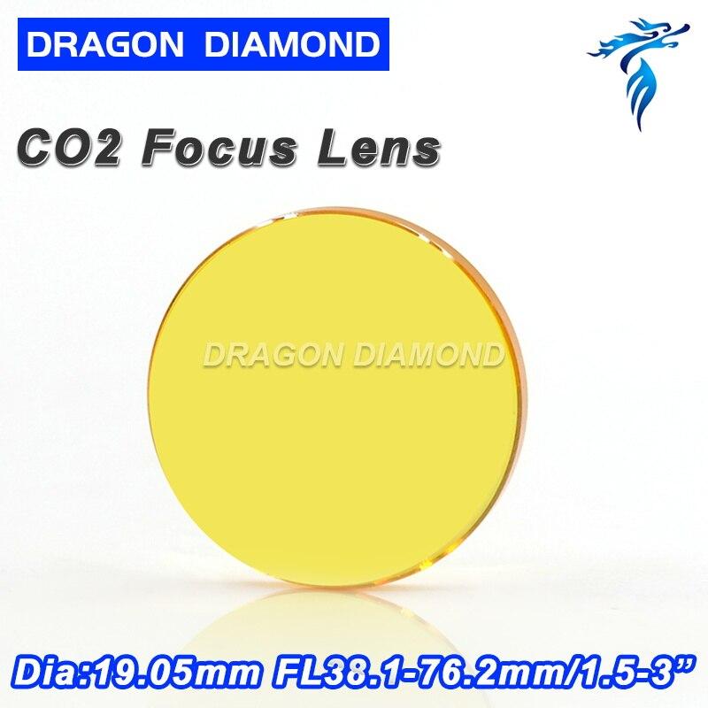 USA ZnSe Co2 Laser Lens 19mm Dia 38.1 50.8 63.5 76.2 101.6 127 Focus Length For Laser Cutting Machine