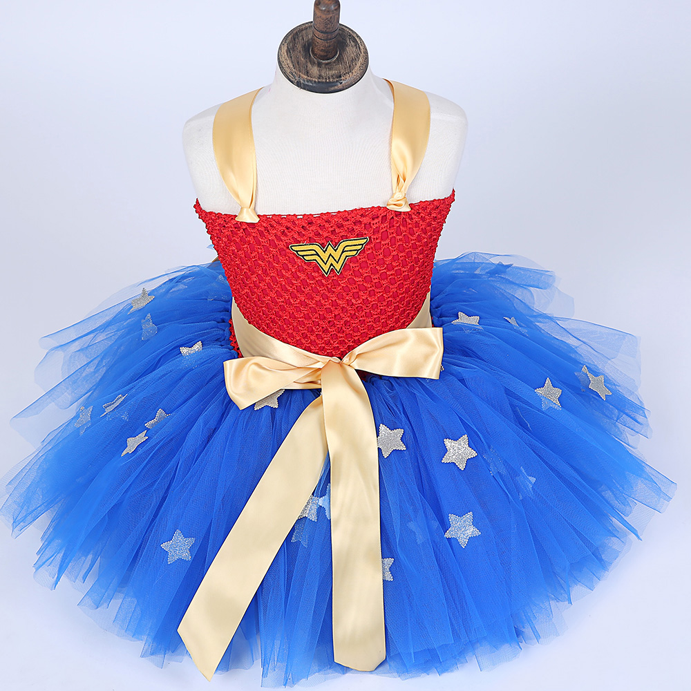 New Girls fancy Dress Wonder Woman cosplay disfraz para niños niños - Disfraces - foto 3