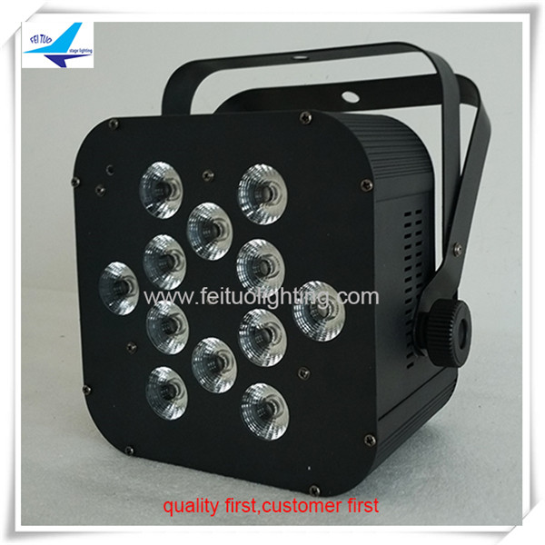 16pcs/lot 12x18 rgbwa uv 6 in 1 or 5 in 1 or 4 in 1 flat Led Par64 Led Par Light DJ Stage Lighting