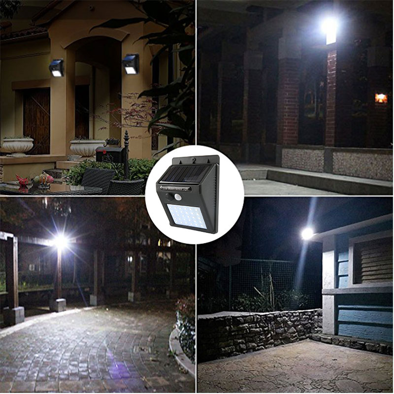 30 48 LED PIR Motion Sensor Rechargeable Solar Light Outdoor IP65 Waterproof Fence Garden Decoration Security Wall Night Lamp fghgf 2018 light sensor 6 led wall light outdoor garden fence ip55 waterproof lamp automatically light gutter fence warm white