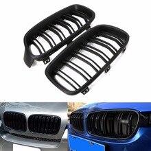 1 זוג מבריק שחור/מט שחור מול סורג כליות עבור BMW 3 סדרת F30 F31 F35 2012 2016 רכב סטיילינג חדש