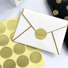 160pcs/lot Small Adhesive Round Blank Gold Seal Sticker Package Decorative Label For Handmade Products