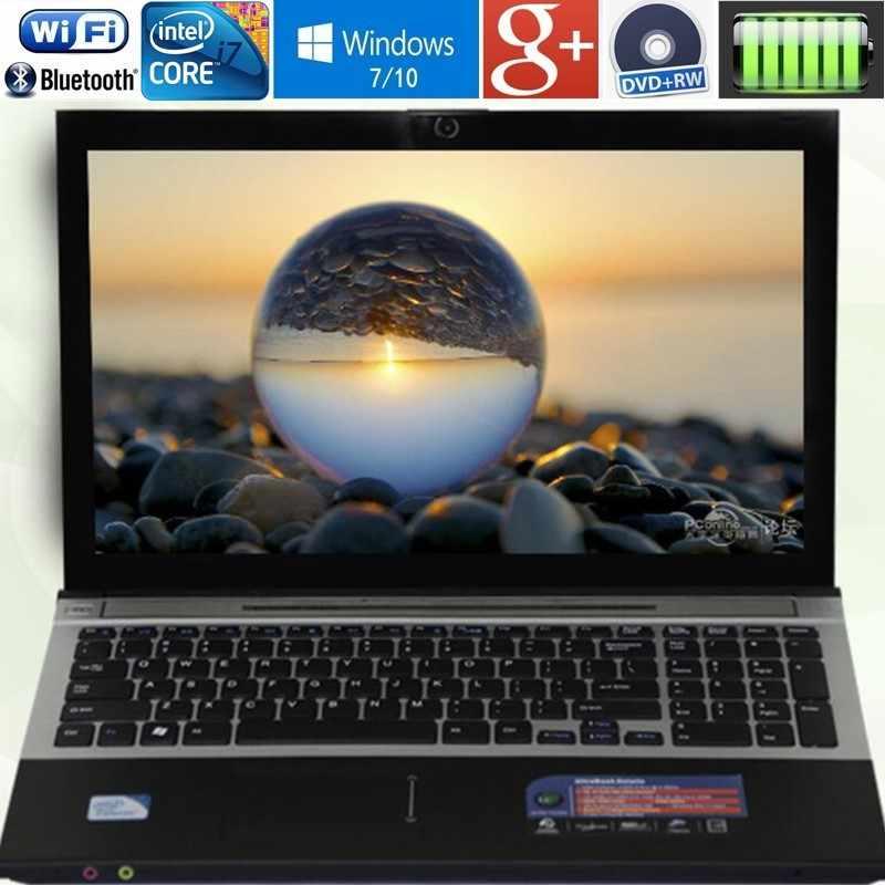 """4GB RAM + 120GB SSD 15.6 """"intel core i7 Laptop Notebook PC duży Notebook PC DVD metalowa obudowa AZERTY włoska hiszpańska rosyjska klawiatura"""