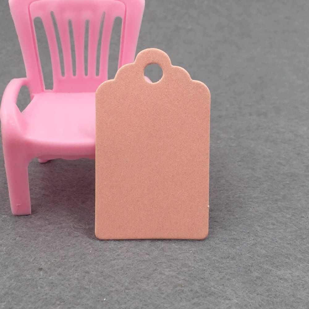 100 cái Vỏ Sò Kraft Thẻ Giấy/Trống Tag/Wedding Favour Quà Tặng Tag Giá Nhãn với quà tặng và một phần thẻ 5x3 cm