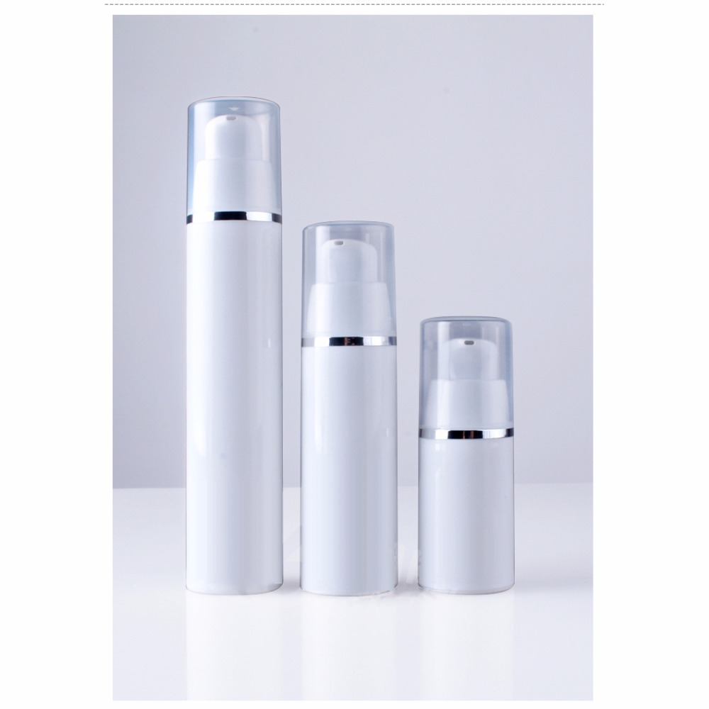 11842e32db6f US $14.59 |10pcs 15ml 30ml 50ml Empty Plastic White Airless Pump Bottle  Vacuum Emulsion Lotion Refillable Bottles Small Cosmetic Containers-in ...