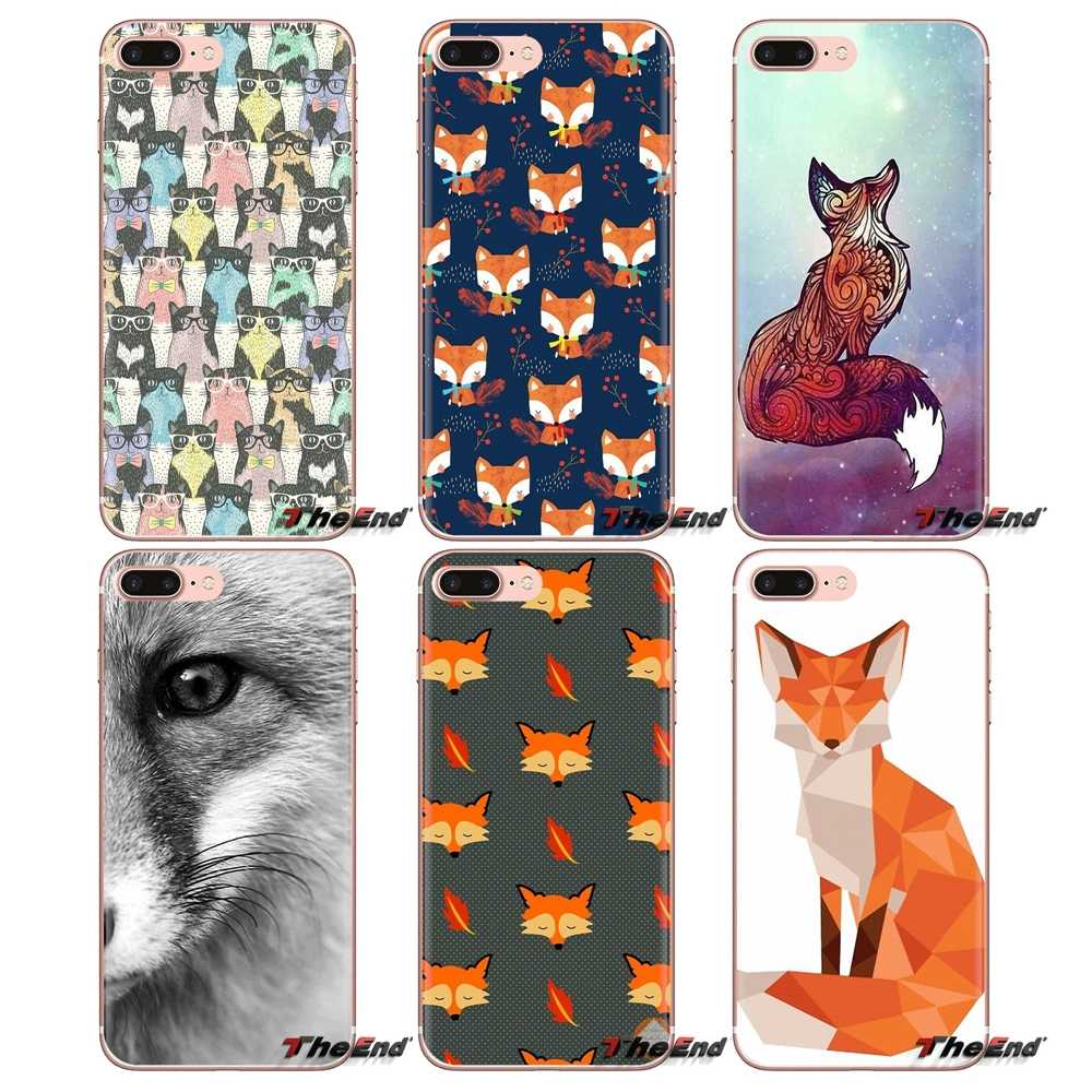 For Sony Xperia Z Z1 Z2 Z3 Z5 compact M2 M4 M5 C4 E3 T3 XA Huawei Mate 7 8 Y3II Silicone Phone Bag Case Animal More Cute Fox cat