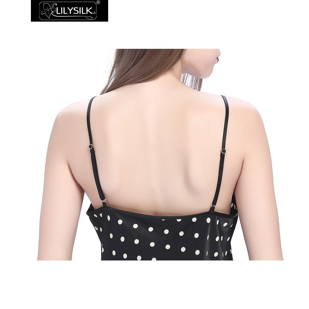 black-19-momme-short-silk-nightgown-with-white-dots-06