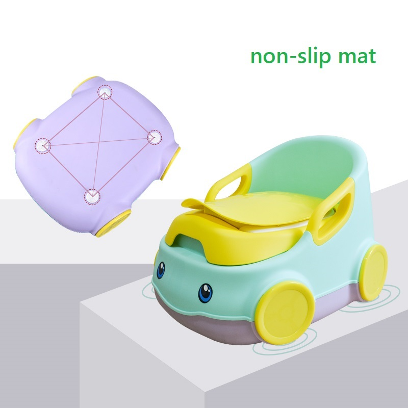 Baby Potty Toilet WC Kids Training Seat Chair Portable Cute Car Design Travel Pot Children Toilet With Free Potty Brush