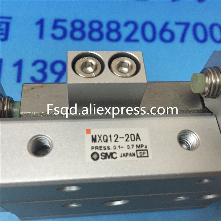 MXQ12-10A MXQ12-20A MXQ12-30A MXQ12-40A SMC air slide table cylinder pneumatic component MXQ series original authentic slider cylinder 13 mxq12 20as