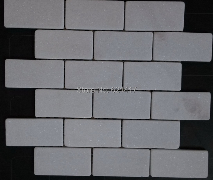 "12x12 Tile Bathroom Wall: Wall Tiles 12x12"" Natural White Marble Stone Mosaic Mesh"