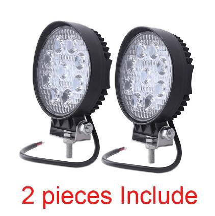 2pcs 12V 24V 27W LED Car Work Light Bar Spot Flood Beam Motorcycle Lamps LED Driving