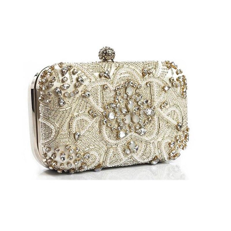 Luxury Women Evening Bags Fashion Pearl Beaded Diamond Women Evening Clutch  Bag Bridal Wedding Purse Handbag Shoulder Bag Chain-in Top-Handle Bags from  ... 90b088d96129