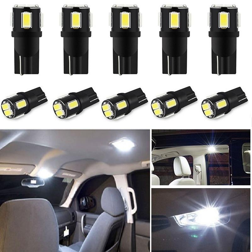 10 pçs t10 w5w lâmpada led 194 168 luz interior do carro lâmpada de estacionamento para toyota camry chr auris hilux prius celica ipsum verso desejo