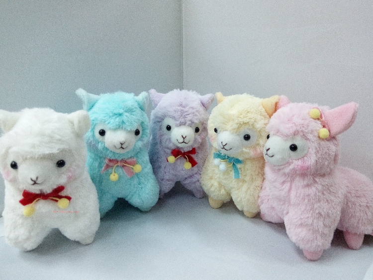 17cm Cute Lovely Animal Alpaca Vicugna Pacos Lama Arpakasso Alpacasso Soft Stuffed Plush Doll Toy stuffed animal 44 cm plush standing cow toy simulation dairy cattle doll great gift w501