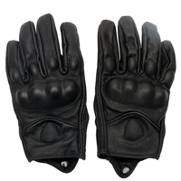 Touch Screen Wearable Protective Gears Leather Breathable Motorcycle Gloves Moto Accessories Windproof