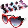 Miúdos novos Do Bebê Moda Proteção UV Óculos de sol da Forma Do Coração Bowknot Quadro Estilo Verão Marca Designer Eyewear Glasses_SH280 Acolhedor