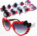 New Fashion Baby Kids Heart Shape Sunglasses UV Protection Bowknot Cosy Frame Summer Style Brand Designer Eyewear Glasses_SH280